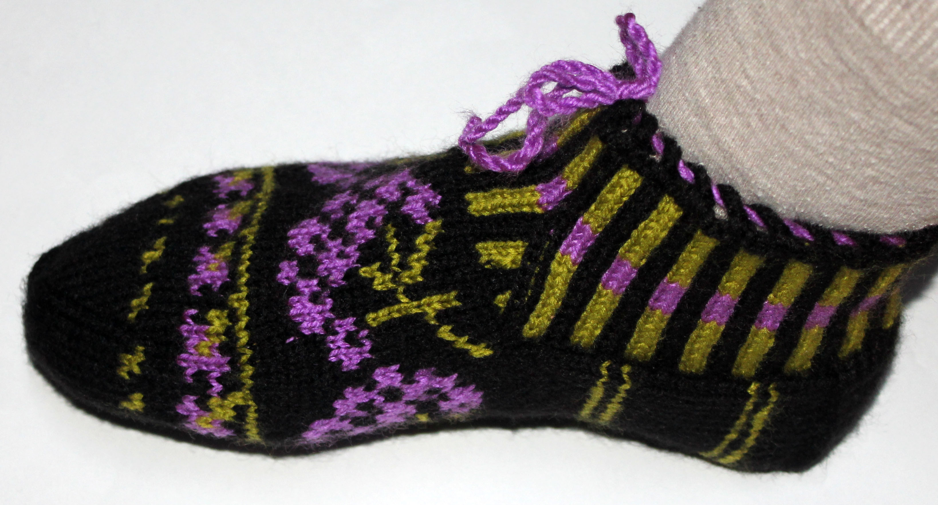 Knitting Pattern For Turkish Slippers : Authentic Traditional Hand Knitted Slippers, Turkish Socks, Home Shoes, Booti...